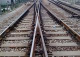 徐州新鹏矿山材料公司建设线路上铺设道岔及岔枕